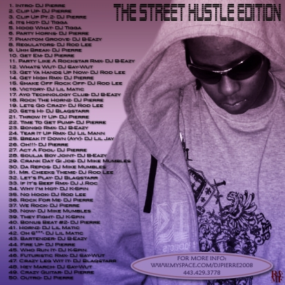DJ PIERRE - THE STREET HUSTLE BACK COVER