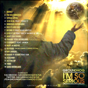 GROUNDHOG - IM SO SERIOUS BACK COVER