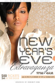 NEW YEARS EVER PARTY FLYER FRONT
