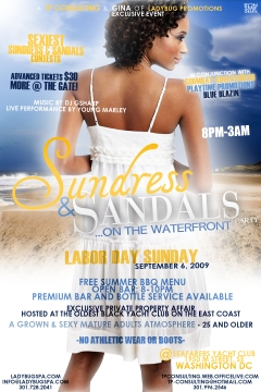 SUNDRESS & SANDALS PARTY FLYER