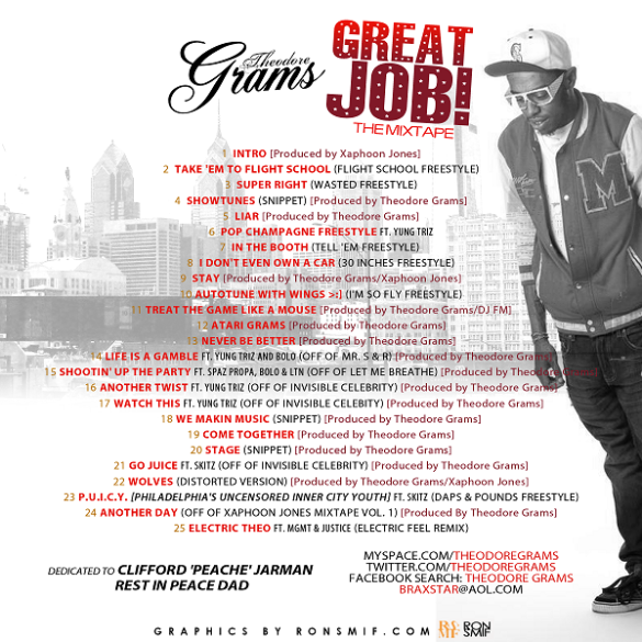 THEODORE GRAMS - GREAT JOB BACK COVER