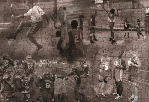 2011 YEARBOOK SPORTS PUZZLE BACKGROUND