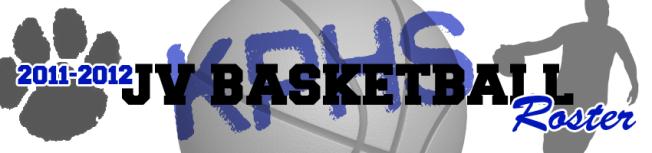 BASKETBALL - JV ROSTER HEADER