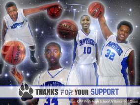 BASKETBALL - THANK YOU POSTCARD