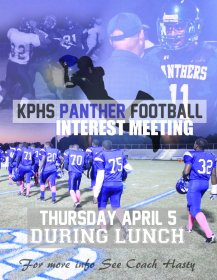 FOOTBALL INTEREST MEETING POSTER