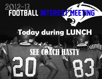 FOOTBALL MEETING POSTER