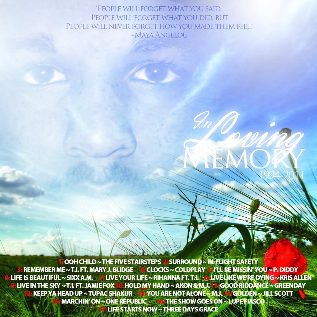 Top JAVARIS CD COVER – IN LOVING MEMORY – Ronald Smith Art BE13