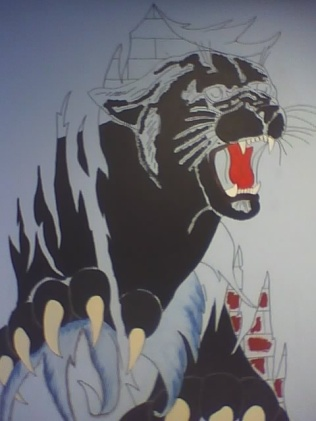 KIPP MURAL - PANTHER BEFORE COMPLETION(MADE 2008)