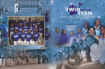 YEARBOOK PAGE - 2012 - BASEBALL & SWIMMING
