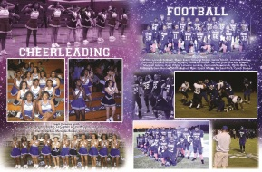 YEARBOOK PAGE - 2012 - CHEERLEADING & FOOTBALL