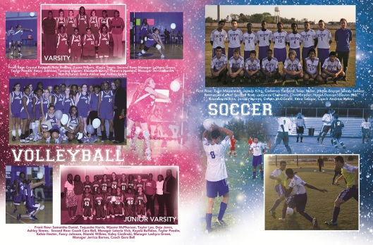 YEARBOOK PAGE - 2012 - VOLLEYBALL & SOCCER