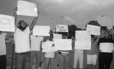 Community Protest - RIP DANIEL SIMMS